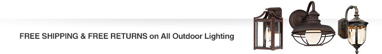 Free Shipping & Free Returns on All Outdoor Lighting