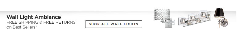 Free Shipping & Free Returns on All Bath Lighting and Wall Lamps