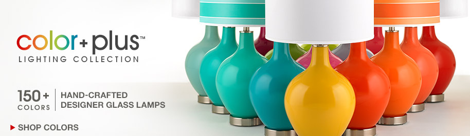 Colorful Lamps - Introducing our Color Plus Lighting Collection of Hand-Crafted Glass Lamps