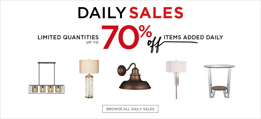 Daily Sale at Lamps Plus - Super Saver Discounts on Lighting Fixtures and More
