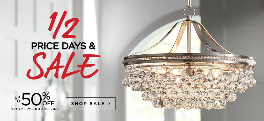 Half Price Days & Sale - Up to 50% Off - Discounts on our most popular fixtures