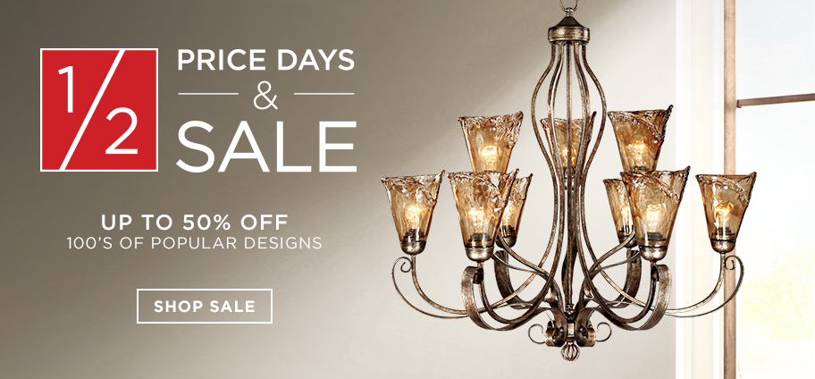 1/2 Price Days & Sale – Up to 50% off