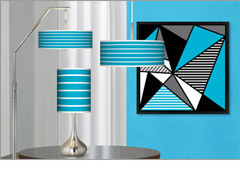 Art shade lighting and wall art lamps plus for Decorate your own lampshade