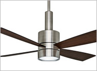 Casablanca Brushed Steel Ceiling Fans