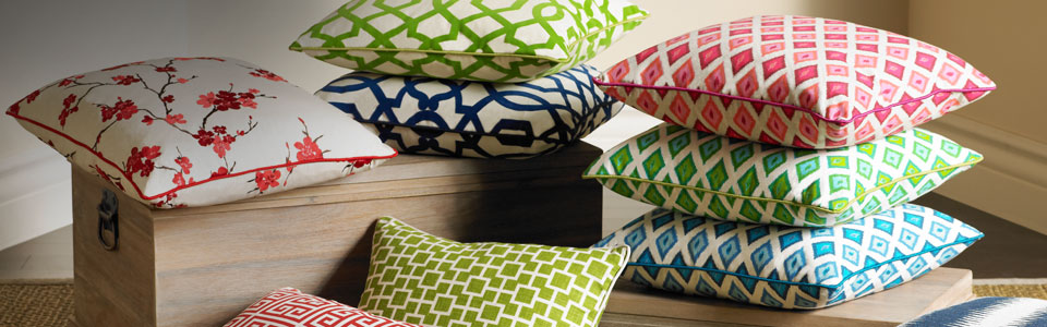 Decorative pillows, throw blankets and more
