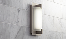 Brushed Steel LED Sconces