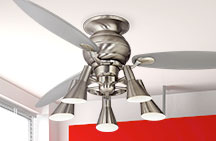 Large Flush Mount Ceiling Fans