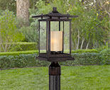 Rustic Outdoor Post Lights