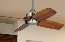 Small Ceiling Fan without Light Kit