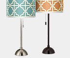 Club Brushed Steel 28.in Table Lamps