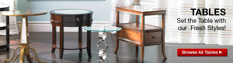 Accent tables, dining tables and more at Lamps Plus
