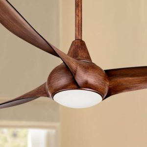 Awesome A Ceiling Fan With Wood Blades And A Light Kit.