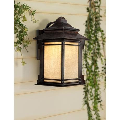 An outdoor LED wall light.