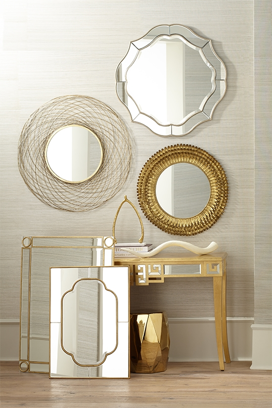 A selection of contemporary mirrors.