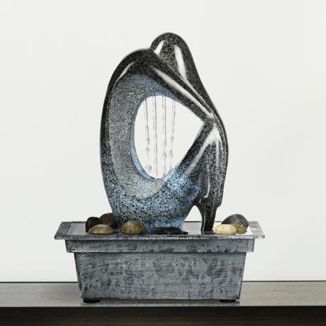 An example of a contemporary tabletop fountain.