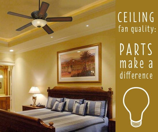 Ceiling fan parts headline.