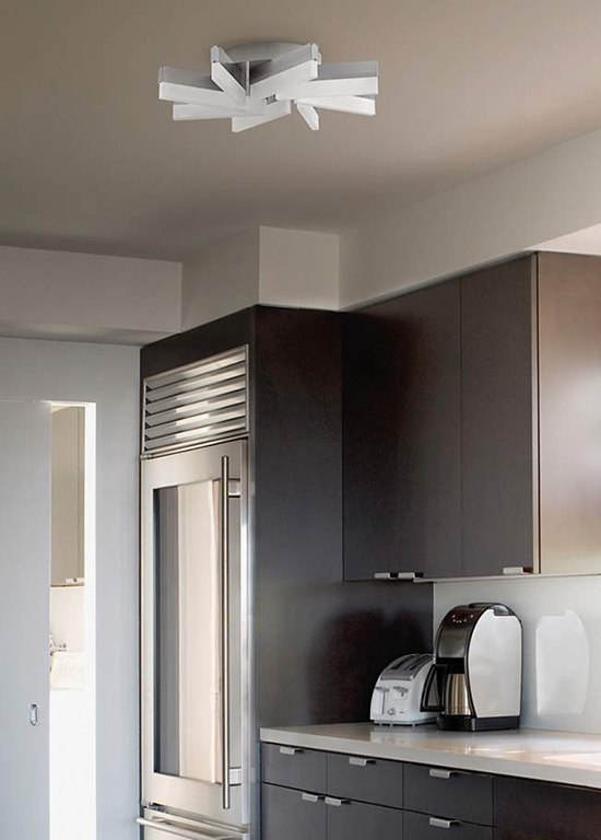 Aluminum Led Ceiling Light In A Kitchen Setting