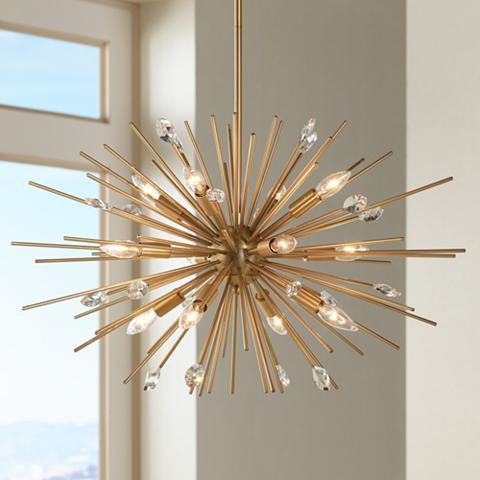Gold Sputunk-style pendant light, offering an irresistible wild and modern touch.