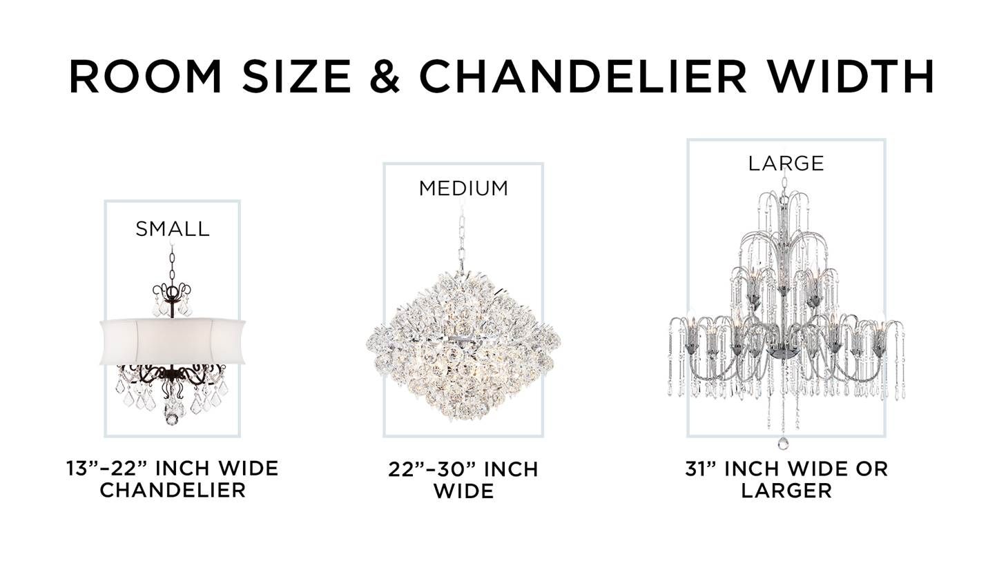 How To Buy A Chandelier Ideas Advice Lamps Plus 2 Switch Wiring Diagram Chart With Small Medium And Large Sizes According Room Size
