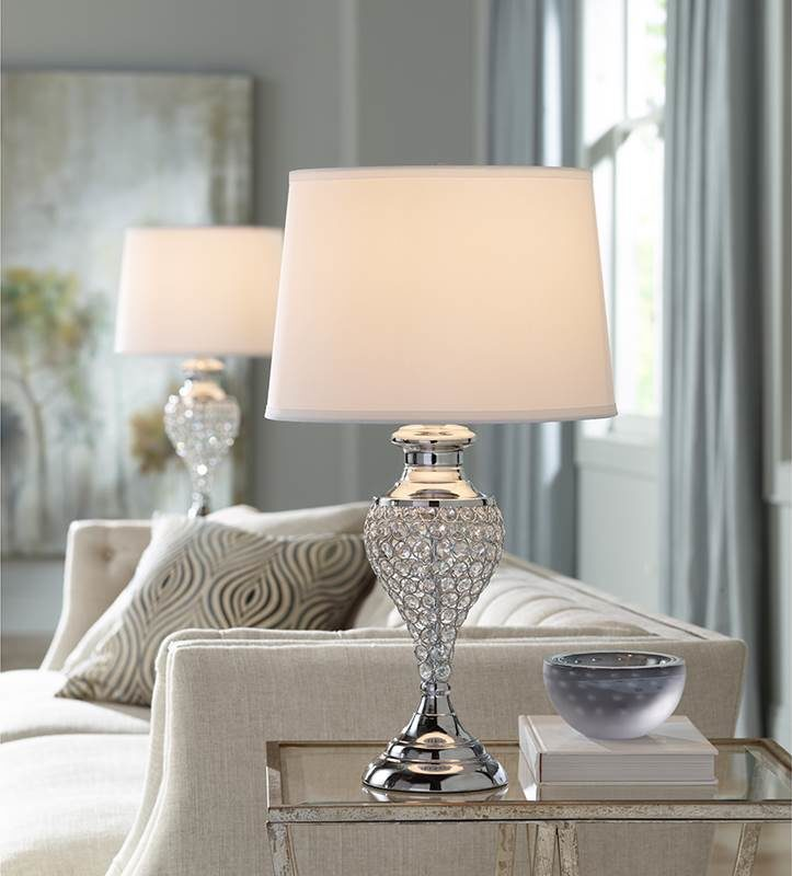Photo of two table lamps in a living room