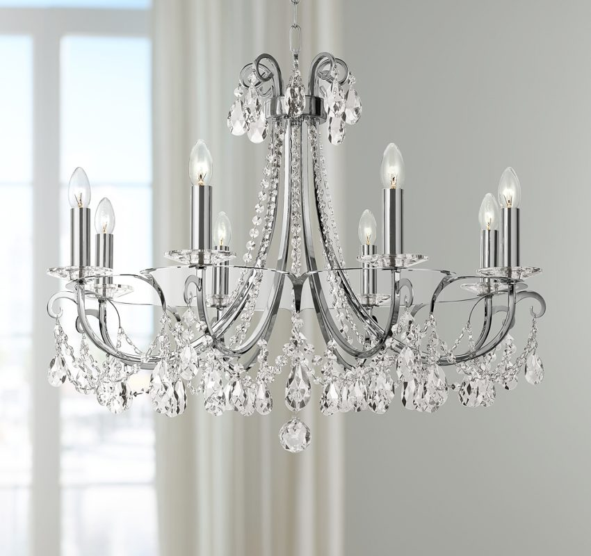 Traditional Crystal Chandelier - Chain Hung
