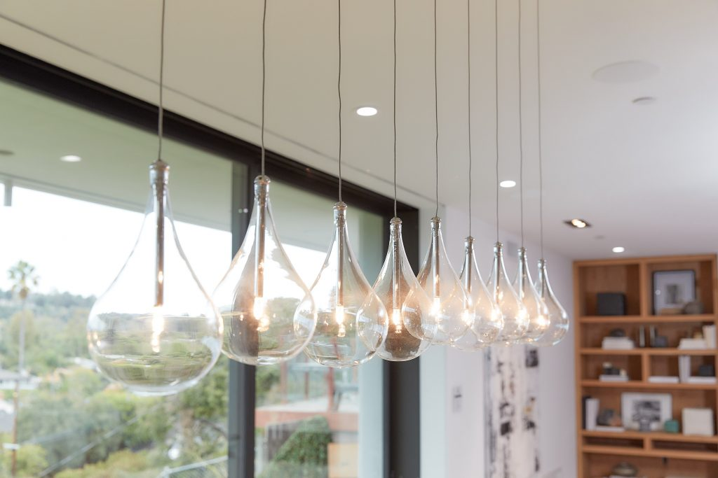Clear glass droplet pendant lights from Lamps Plus