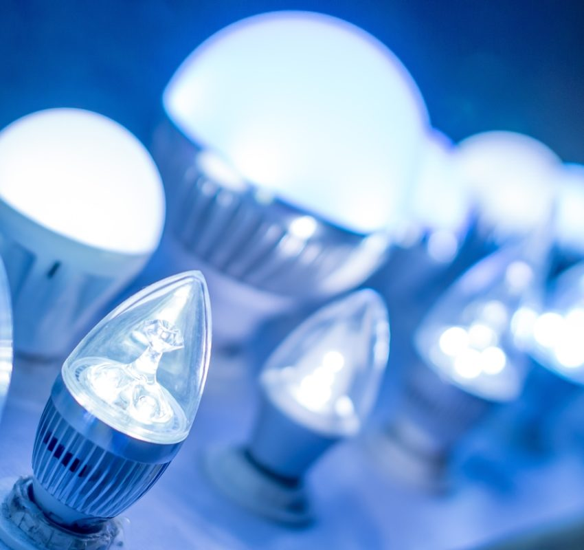 LED light bulbs image