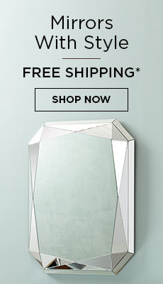 Free Shipping on All Mirrors*