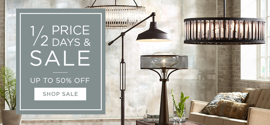 Half Price Days and Sale - Up to 50% off