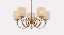 Mid Sized Antique Brass Chandeliers