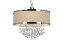 Crystal Drum Chandeliers