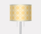 Twin Pull Art Shade Nickel Floor Lamps