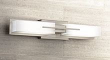 Brushed Nickel LED Bathroom Lighting