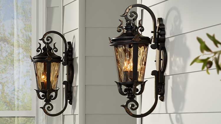 Outdoor Lighting Fixtures Porch Patio Exterior Light Fixtures Lamps Plus