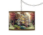 Country Cottage Plug-In Chandeliers