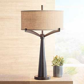 Attractive Bronze. Art Shade Lamps