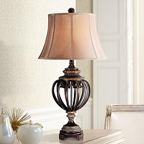 table lamps for bedroom living room and more lamps plus. Black Bedroom Furniture Sets. Home Design Ideas