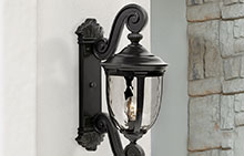 Traditional Black Outdoor Wall Lights