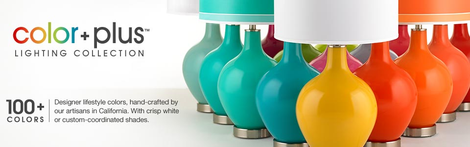 Color Plus Collection - Colored Glass Lamps