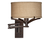 Bronze Swing Arm Wall Lamps