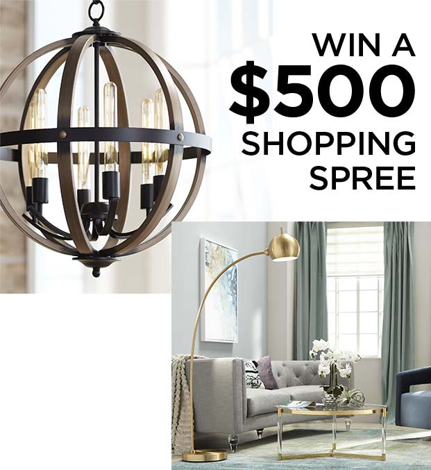 Lamps Plus Sweepstakes - Win a $500 Shopping Spree